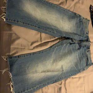 American Eagle wide leg jeans.